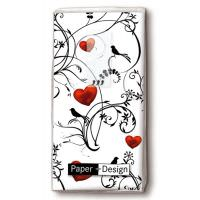 Handkerchiefs - Ornament with hearts