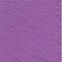 Napkins embossed - Moments Uni lilac