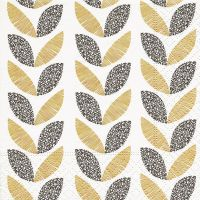 Cocktail napkins - Graphic leaves