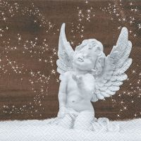 Cocktail napkins - Angel in snow