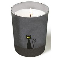 Candle in a glass - Gatto nero