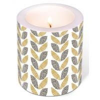 Candle - Graphic leaves
