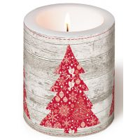 Candle - Red tree