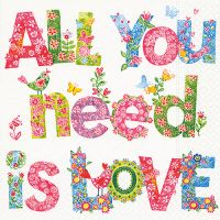 Servietten - All you need is love