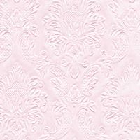 Napkins embossed - Moments Ornament soft pink