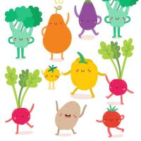 Servietten - Happy Veggies