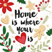 Servietten - Home is where your heart is