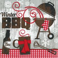 Servietten - Winter BBQ