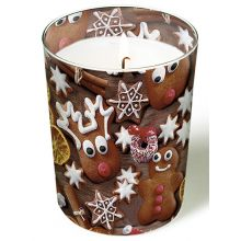 Candle in a glass - Gingerbread cookies
